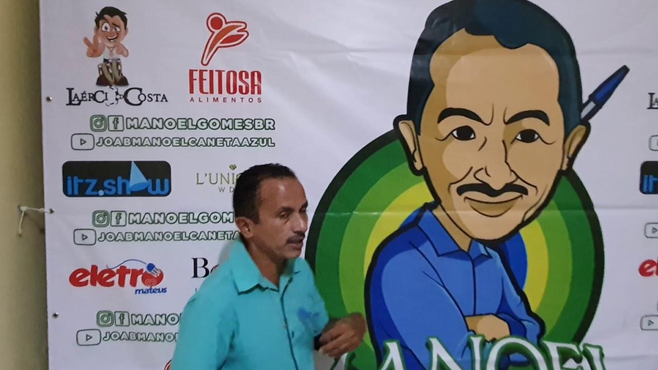 Manoel Gomes caneta azul Feliz e apresentar o BANNER