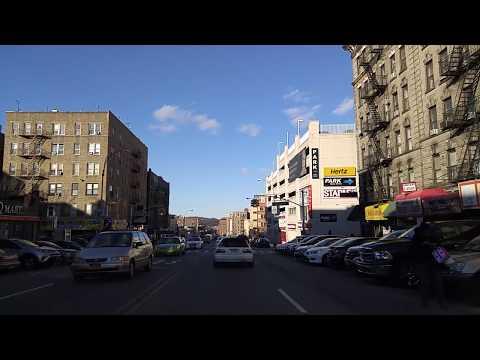 Driving by Hudson Heights Manhattan,New York