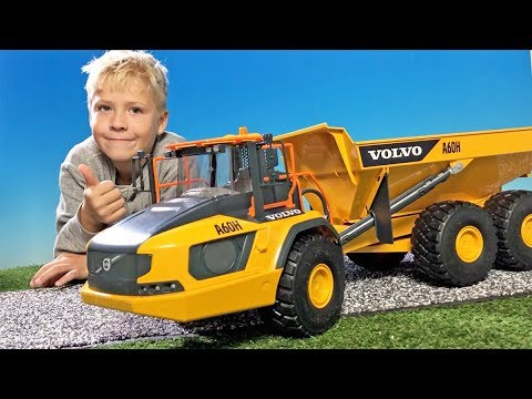 bruder 02455 volvo a60h dumper truck for children. Black Bedroom Furniture Sets. Home Design Ideas