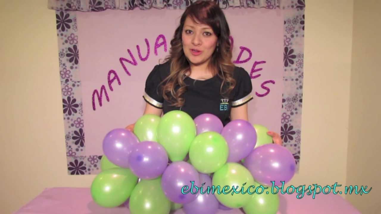 como hacer torres de globos dia del ni o youtube