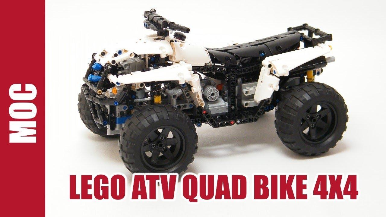 lego technic motorized atv quad bike 4x4 youtube. Black Bedroom Furniture Sets. Home Design Ideas