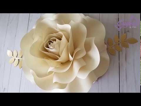 DIY Paper Flower    Flower templates #031    DIY Paper Rose