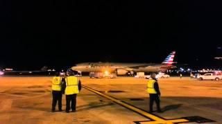 AA 777-300er inagural flight to Brazil