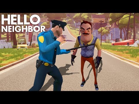 The Neighbor Is A POLICE OFFICER!!! | Hello Neighbor Knock Offs/Rip Offs