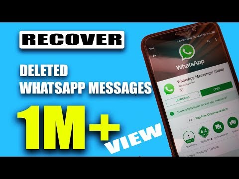 How to Recover Deleted WhatsApp Messages EASILY! - 2018