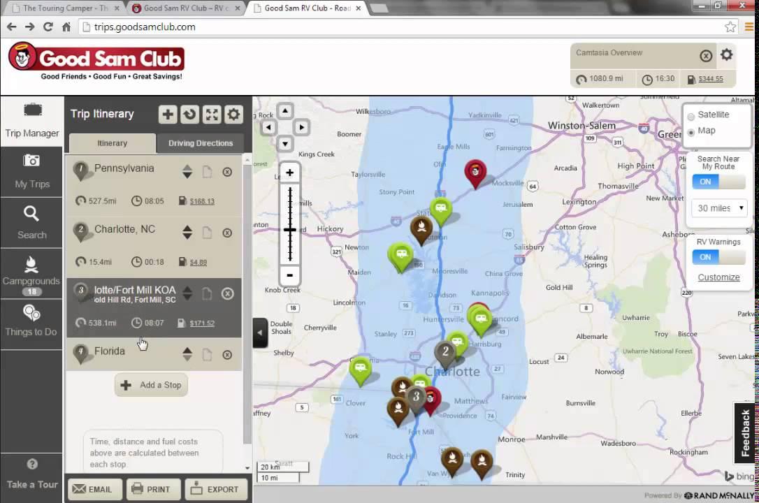 Good Sam Trip Planner Overview - YouTube - trip maker software