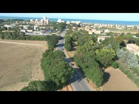 Il Gran Premio Capodarco visto dall'elicottero