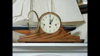 Oak Howard Miller Westminster Chime Mantel Clock