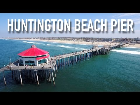 HUNTINGTON BEACH PIER (SURF CITY USA) | Phantom 4 4K Drone Video