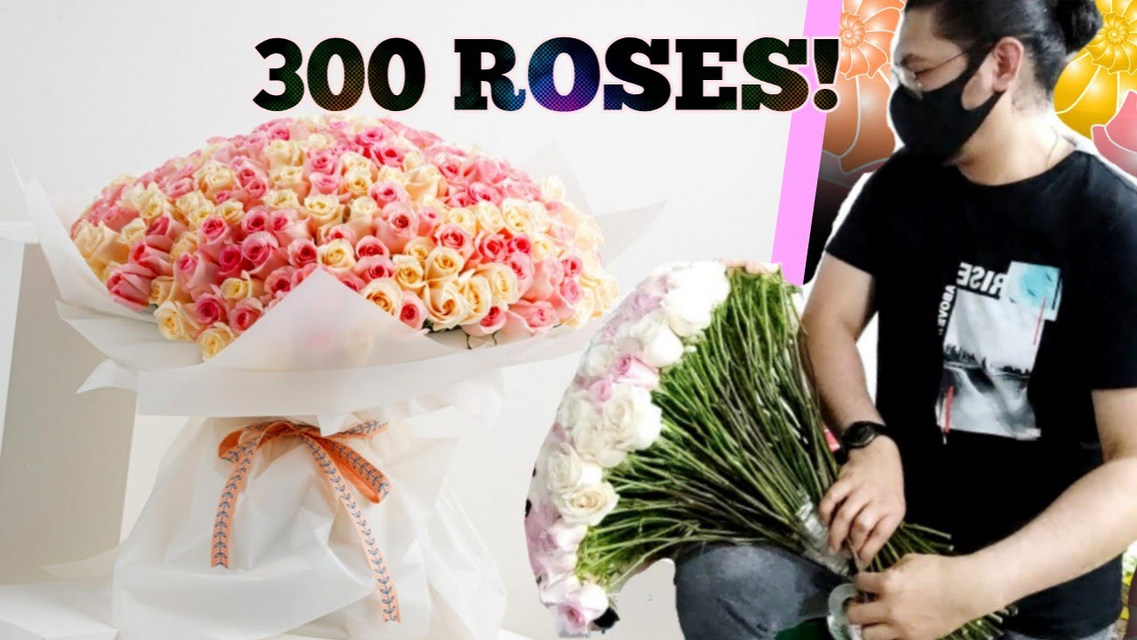 HOW TO MAKE 300 ROSES BOUQUET   LEARN  EASY TECHNIQUES   EASY HAND BOUQUET TUTORIALS #Ontrendstory