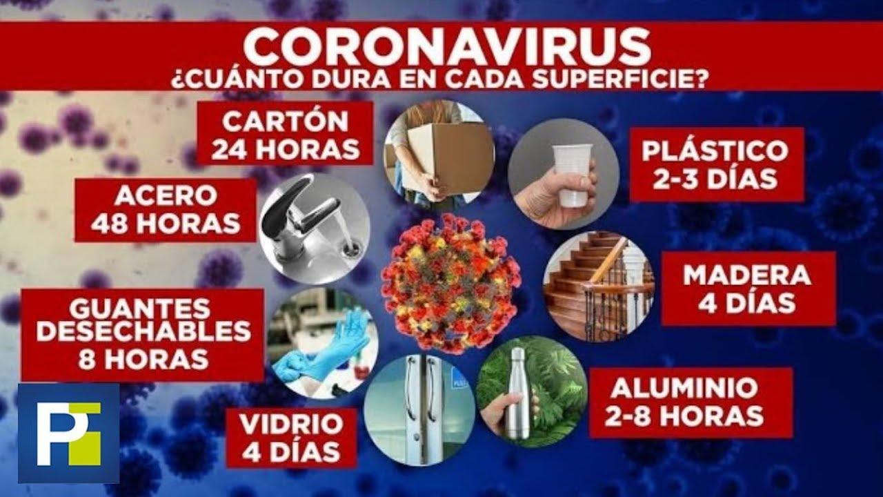 Esto es lo que dura el coronavirus en cada superficie, según ...