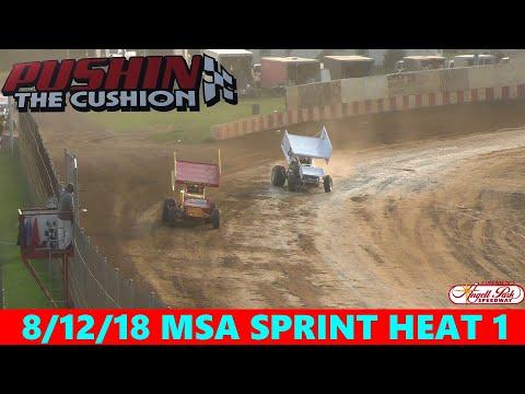 Angell Park Speedway - 8/12/18 - MSA Sprints - Heat 1