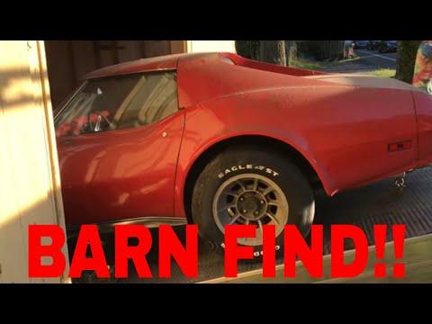 BARN FIND!!! 1974 Corvette Stingray! Let's Restore It!