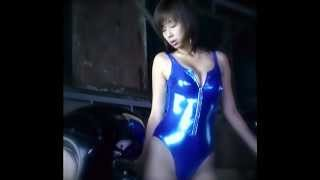 Waka Inoue 井上和香1 - Blue Metallic Leotard.