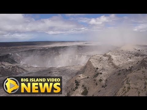 Fly-Over Slumping Kilauea Volcano, As Scientist Explains (Jun. 26, 2018)