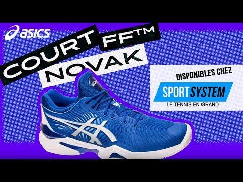calcetines el centro comercial Ambientalista  Chaussures de tennis Asics Court FF Novak - YouTube