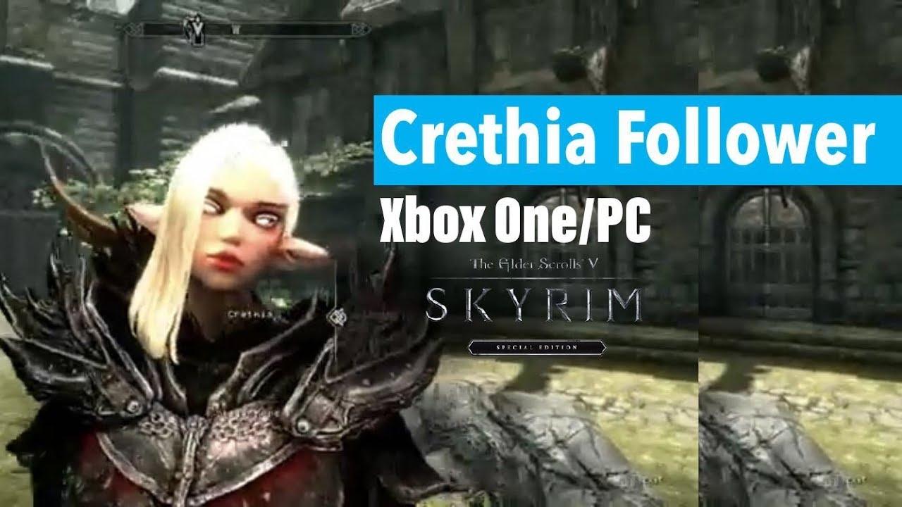 Skyrim SE Xbox One/PC Mods|Crethia Follower