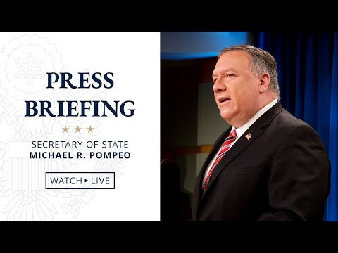 Secretary Pompeo's Remarks to the Media - New Time - 3:45 PM