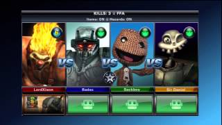 PlayStation All-Stars Battle Royale - Arcade Mode - Sweet Tooth Story Walkthrough
