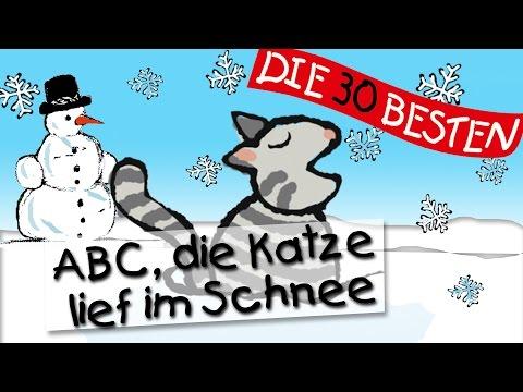 ABC Die Katze lief im Schnee - Die besten Kindergartenlieder || Kinderlieder