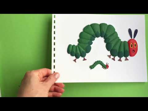 Living Paintings' thermoform press machine in action - The Very Hungry Caterpillar