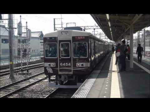 阪急6300系6354F 京トレイン 桂到着