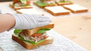 [카페판매 레시피] 맛있는 게살샌드위치 만들기 Crab…
