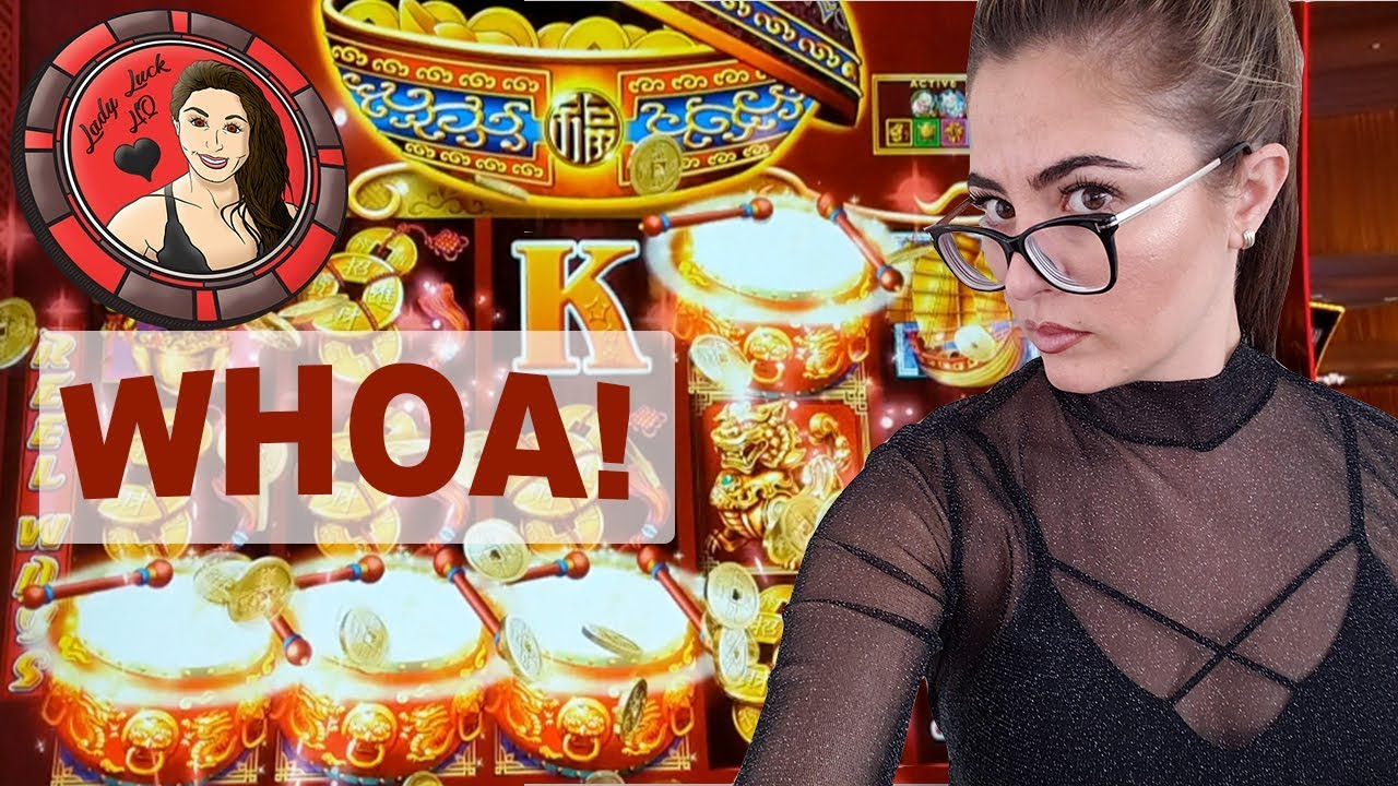 Great Slot Machine Wins On Dancing Drums Double Blessing
