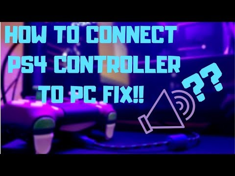 PS4 CONTROLLER TO PC [YELLOW LIGHT/AUDIO DEVICE ISSUE FIX!]