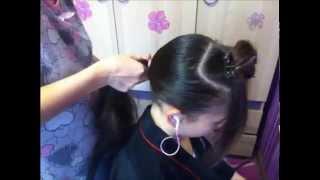 прическа для спортивных бальных танцев №2(эту причёску можно делать и со стразами., 2015-11-10T18:48:51.000Z)