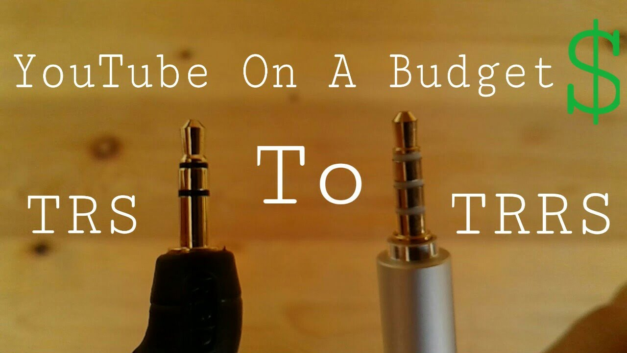 How To Plug Your Mic Into Anything Trs Trrs Youtube On A Jack Wiring Budget 1