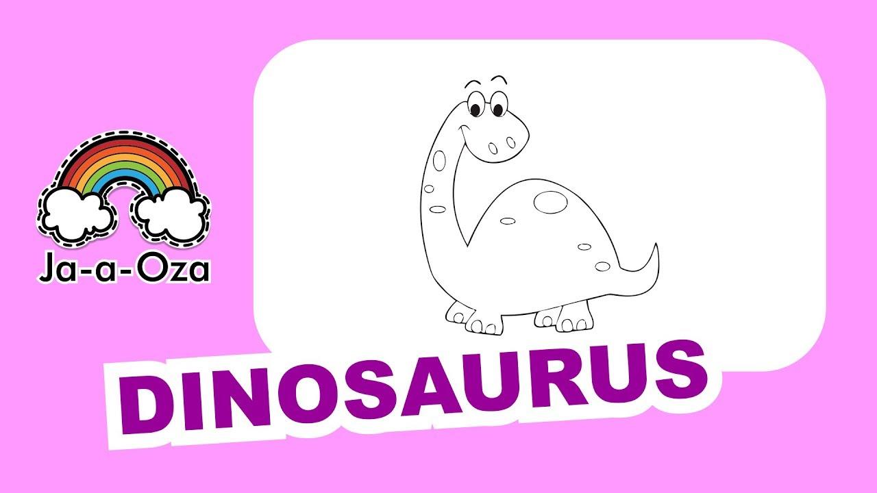 Asiknya Mewarnai Dinosaurus Menggunakan Crayon