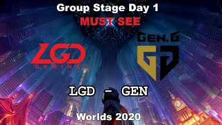 LGD vs GEN Must See Group Day 1 WORLDS 2020 Чемпионат Мира LGD Gaming vs GEN G