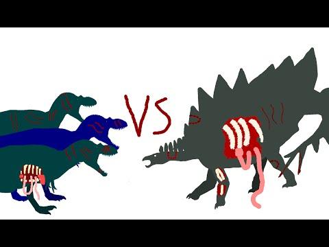 Battle Carnage: albertosaurus vs stegosaurus