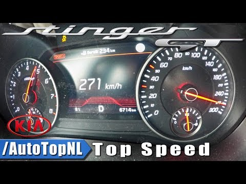 KIA STINGER GT 3.3 V6 AWD ACCELERATION TOP SPEED 0 271km h by AutoTopNL