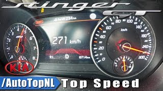 KIA STINGER GT 3.3 V6 AWD ACCELERATION & TOP SPEED 0-271km/h by AutoTopNL