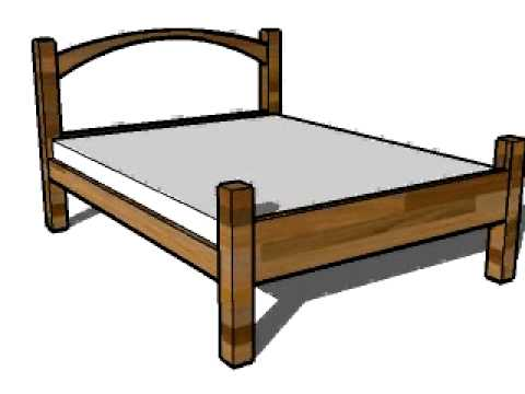 How to make a platform bed guide. low 4 poster bed design - YouTube