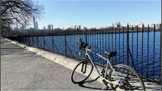 Cycling Through Central Park In New York