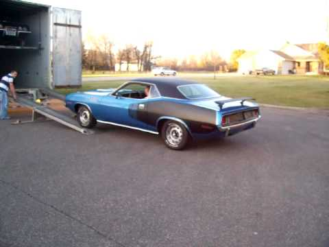 The 71 Blue 'Cuda off to a new home