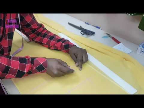 Lining Kameez Cutting in Professional Style