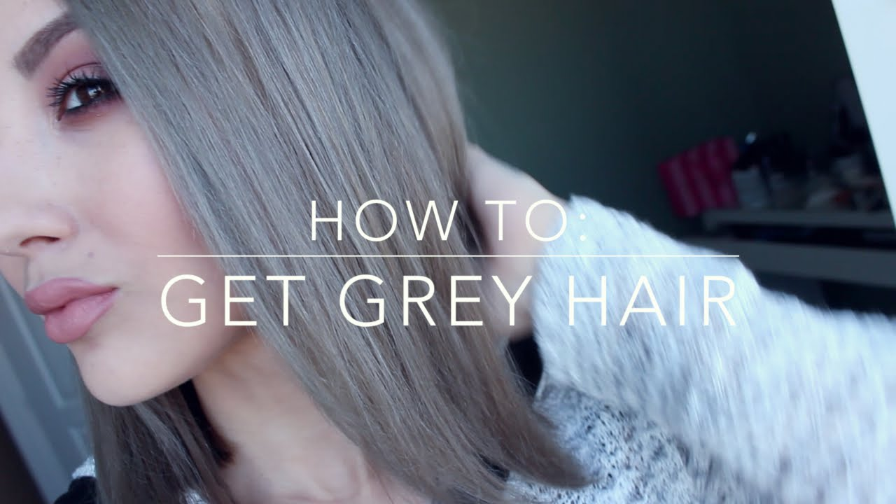 How To Get Grey Hair Inexpensive Diy Youtube