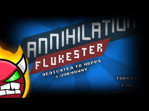 [Geometry dash 2.1] - 'Annihilation' by Flukester & more (All Coins)