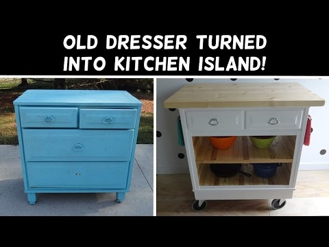 Turn a Dresser Into a Kitchen Island!