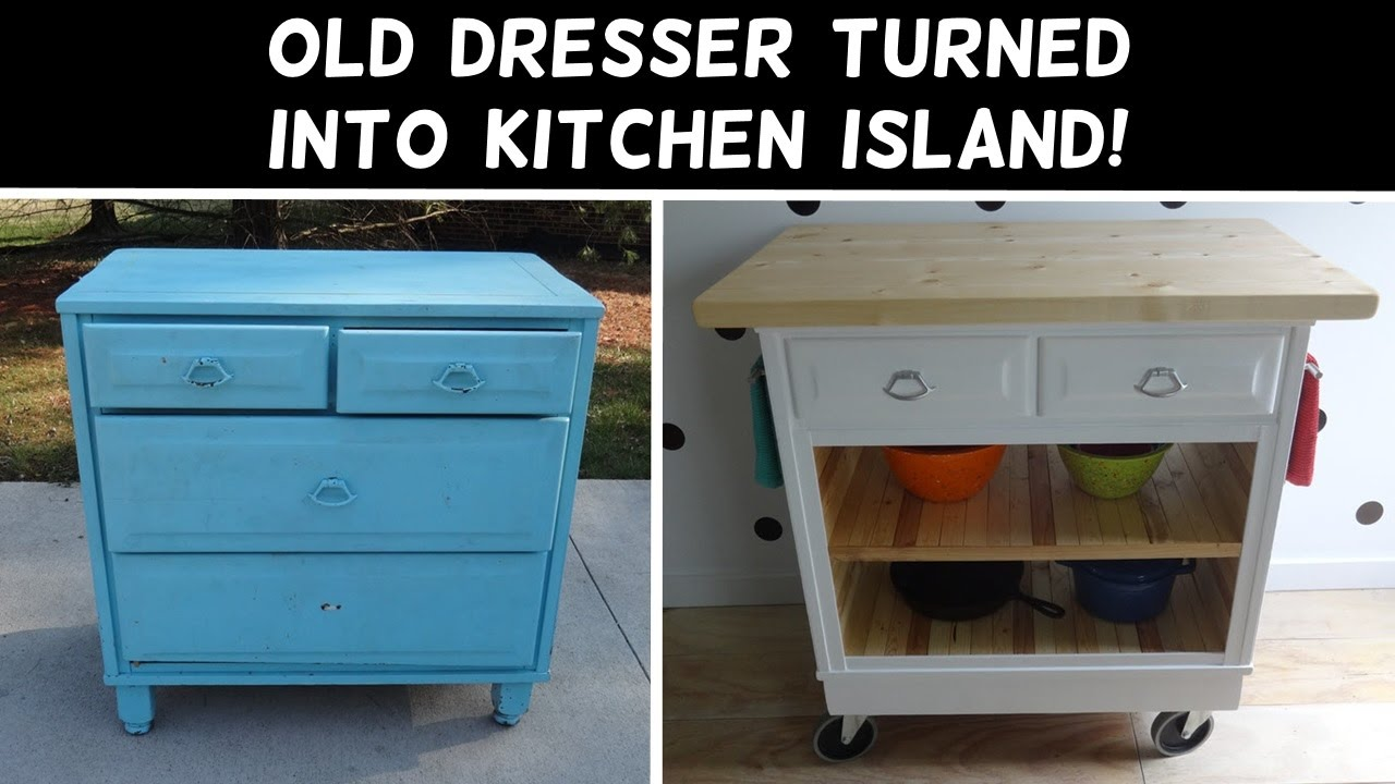Turn a Dresser Into a Kitchen Island! - YouTube