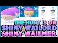 SHINY WAILMER & WAILORD HUNT IS ON IN POKEMON GO | LUGIA VS PINSIR RAID
