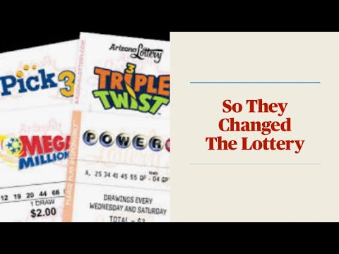 So They Changed The Lottery