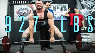 Cailer Woolam All Time World Record Deadlift 927 @ 220