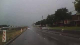 A Drive to Work in The Rain in Dallas