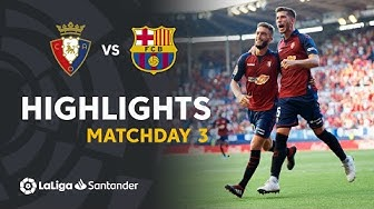 Highlights CA Osasuna vs FC Barcelona (2-2)