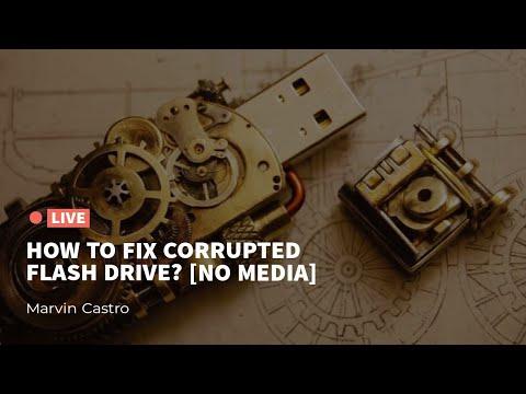 How to fix Corrupted  Flash Drive (No Media)